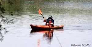 Barb doing wonderful in the kayak