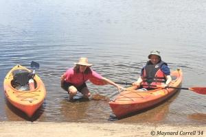 Barb and Kathy back at shore