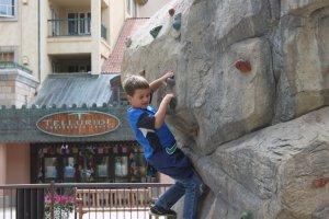 Caiden rock climbing