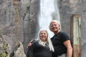 Barb & I under Bridal Veil Falls