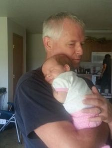 Doug and his new granddaughter