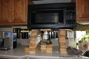 Our convection microwave unit after it came off of the wall.